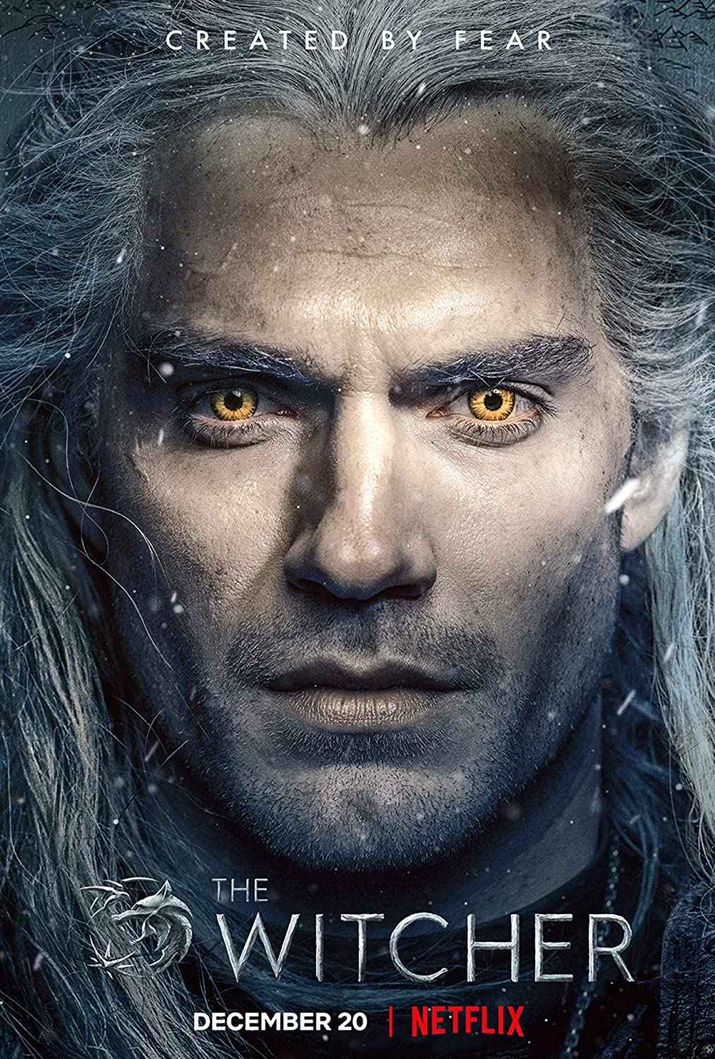 Movie Poster The Witcher 13 in x 19 in Poster Flyer Borderless + Free 1 Tile Magnet