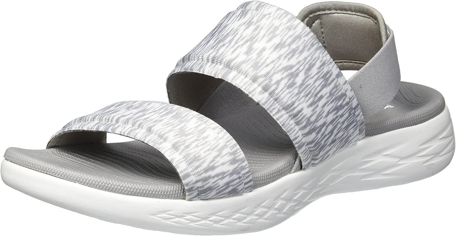 Skechers On-The-go 600-Foxy, Sandalia con Pulsera para Mujer