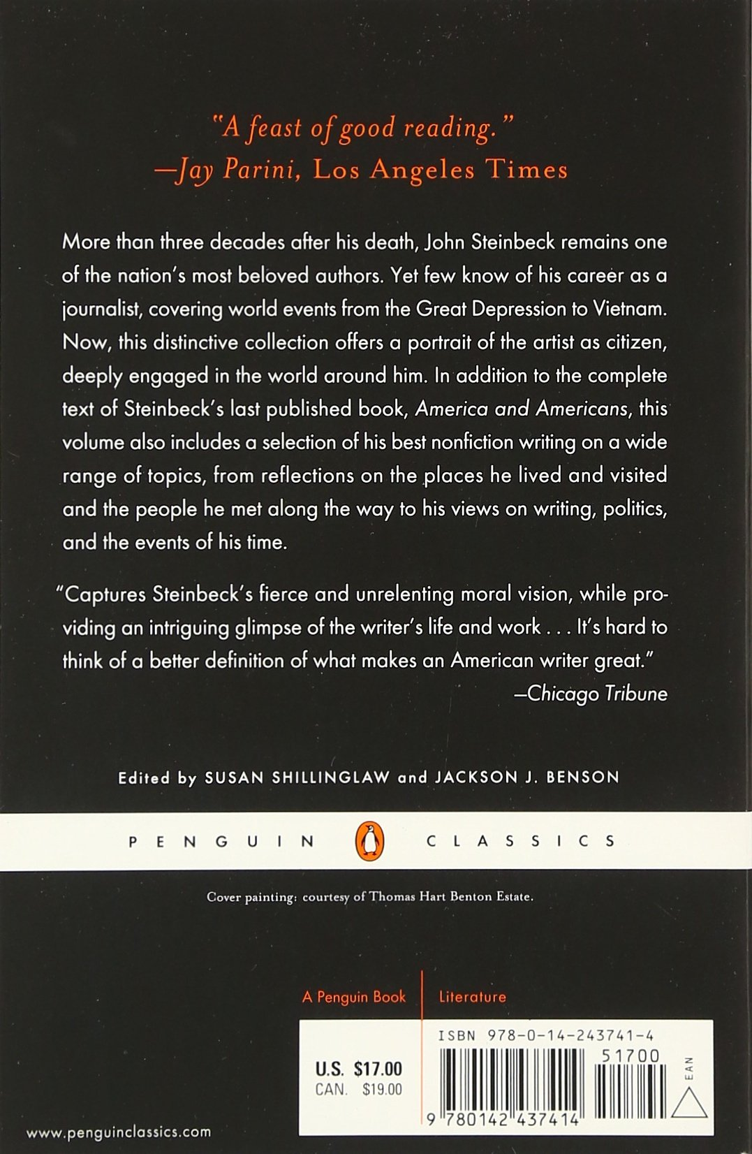america and americans and selected nonfiction penguin classics america and americans and selected nonfiction penguin classics john steinbeck jackson j benson susan shillinglaw 9780142437414 com books