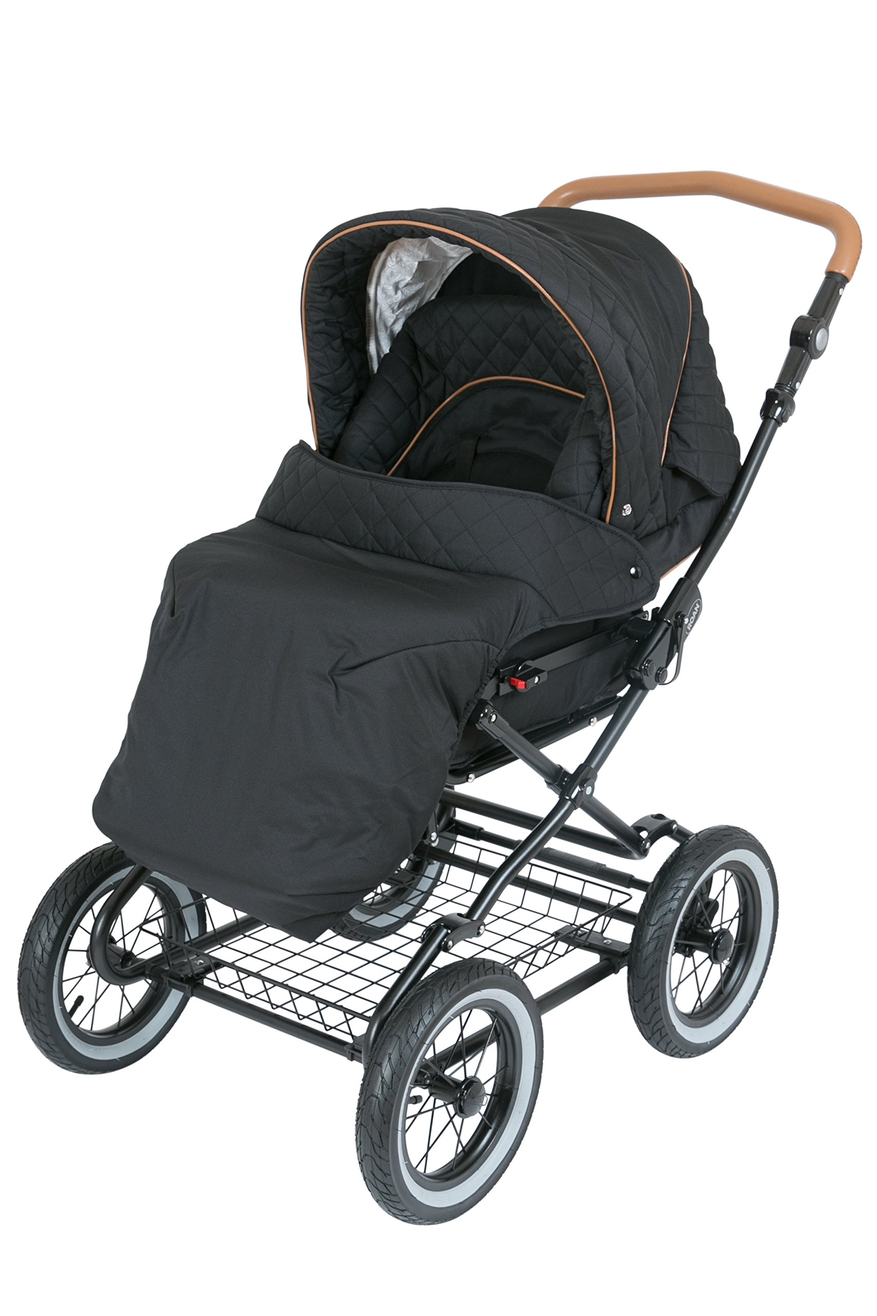Luxury Roan Kortina 2-in-1 Pram Stroller Pushchair with Big Baby Bassinet and Toddler Reclining Seat with Five Point Safety System UV Proof Canopy and Storage Basket for child up to 3 year (graphite) by ROAN (Image #5)