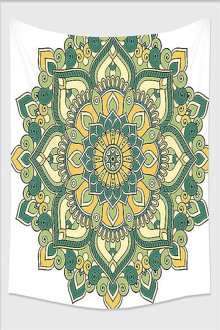 Amazon.com: Nalahome-Mandala Indian Ethnic Dahlia Petals Eastern ...