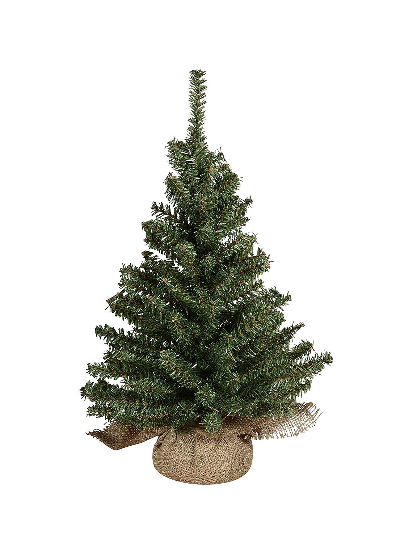 "16"" Christmas Tabletop Tree in Burlap Base"