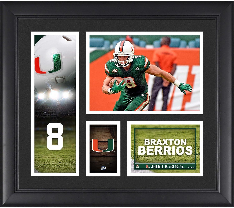 Braxton Berrios Miami Hurricanes Framed 15