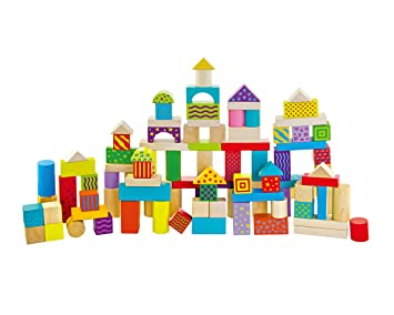 100 pieces of colorful wooden blocks Sonstige