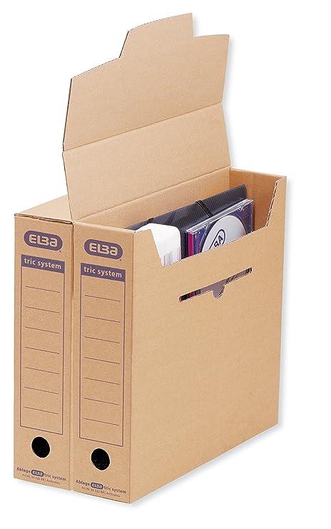 Elba 83522 - Caja archivadora para archivador o para colgar (sistema de lengüetas, 12