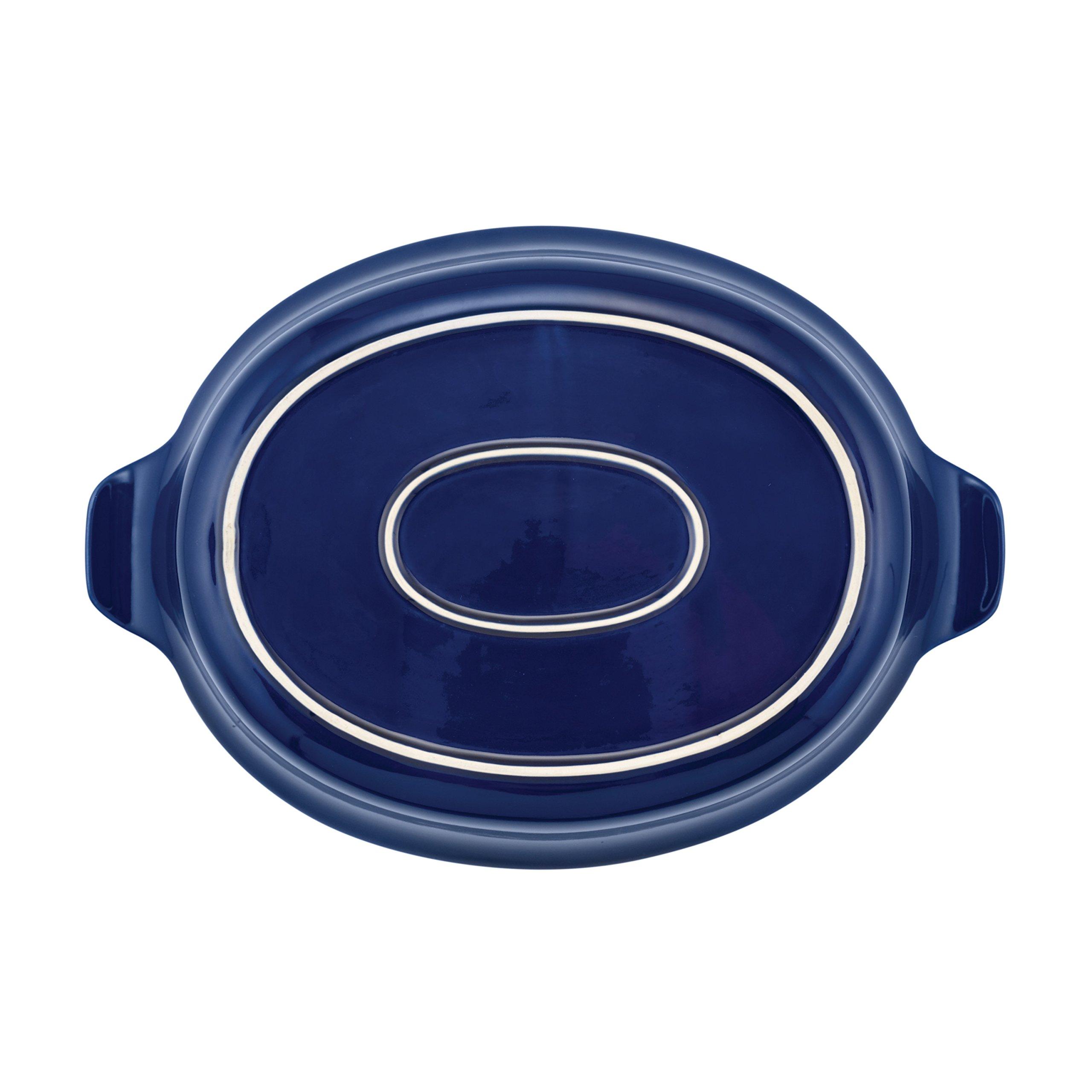 Anolon Vesta Stoneware Oval Au Gratin Pan, 2 quart, Baltic Blue by Anolon (Image #3)