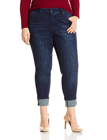 36bf7db1088 Jag Jeans Women s Plus Size Maddie Skinny Cuff in Crosshatch Denim at  Amazon Women s Clothing store
