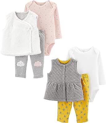 Carter's Baby-Girls 19581210 2-Pack 3-Piece Vest Set Fleece Vest - Multi