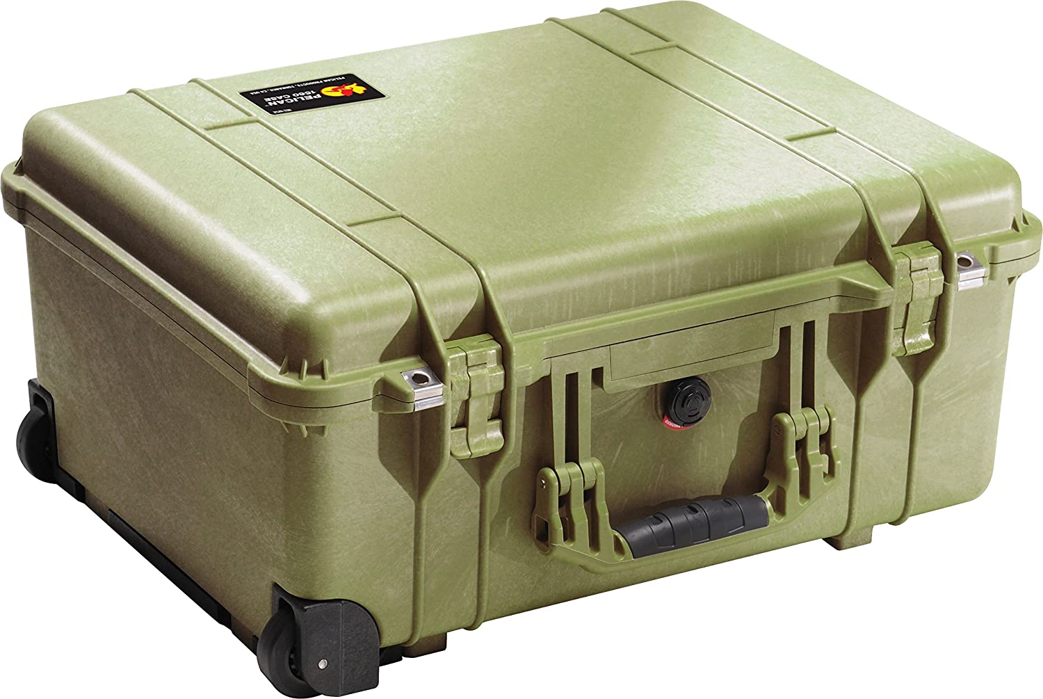 Pelican 1560 Case With Padded Dividers OD Green