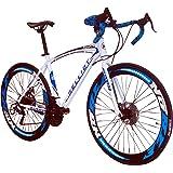 Helliot Bikes Helliot Sport 02 Bicicleta de Carretera, Unisex Adulto, Blanco/Azul,
