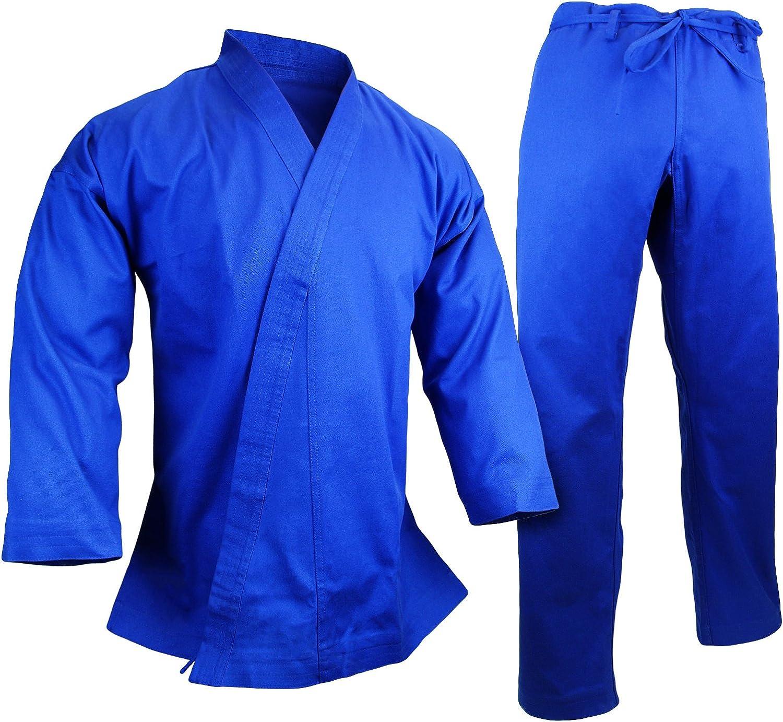 White//Black//Blue//Red PROWIN1 12 Oz Heavyweight Cotton Karate Uniform Martial Arts Gi