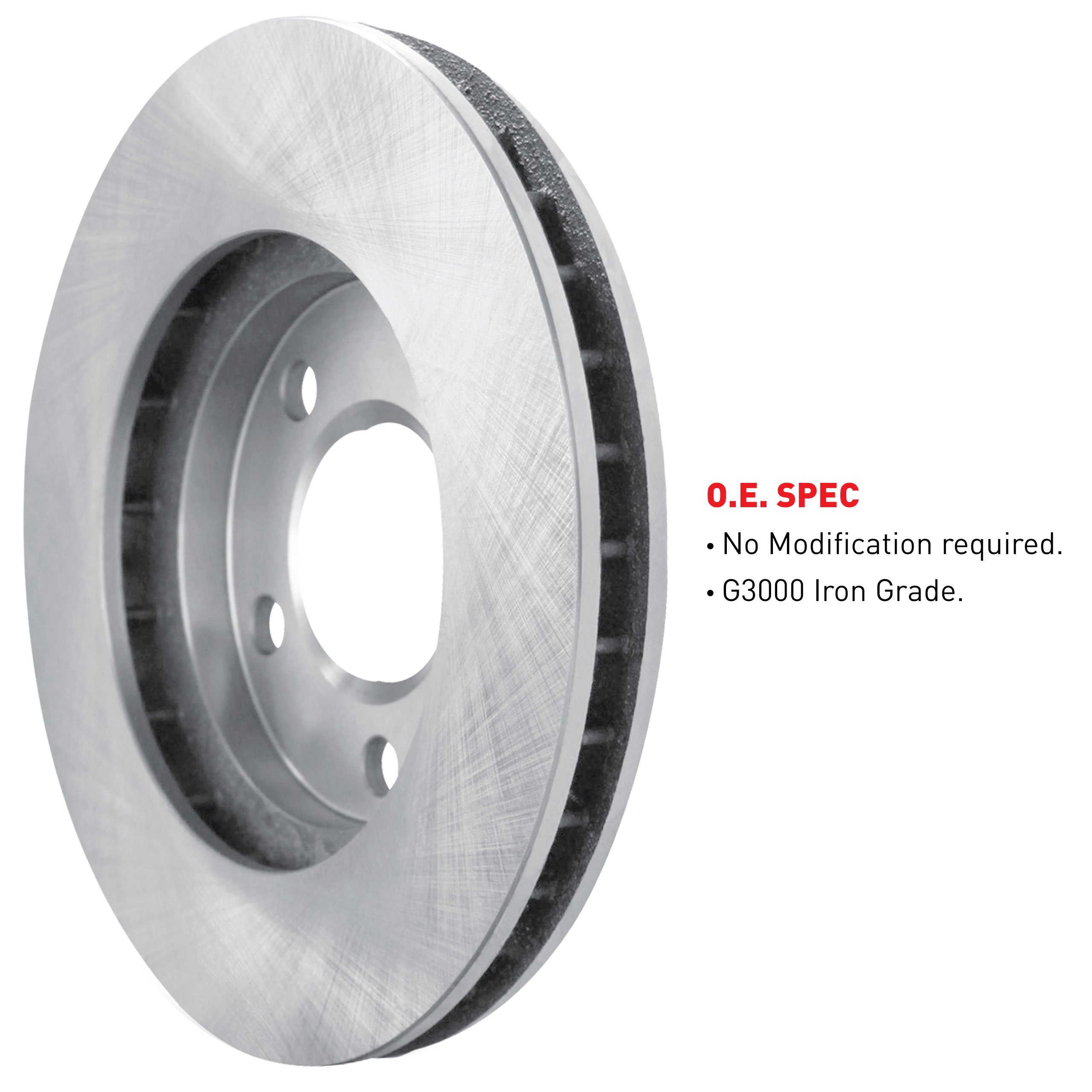 R1 Concepts KEOE11428 Eline Series Replacement Rotors And Ceramic Pads Kit - Front by R1 Concepts (Image #3)
