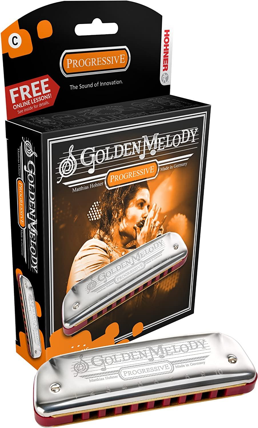 Hohner Golden Melody Hohner Diatonic Harmonicas Harmonica in all keys box in