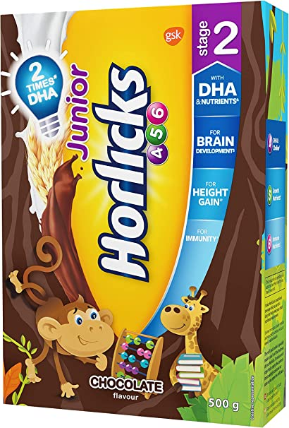 Junior Horlicks Stage 2 4 6 Years Health Nutrition Drink 500 G Refill Pack Chocolate Flavor Amazon Ca Health Personal Care