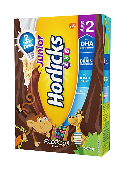 Buy Horlicks Junior Stage 2 4 6 Years Health And Nutrition Drink 500g Refill Pack Chocolate Flavor Online At Low Prices In India Amazon In