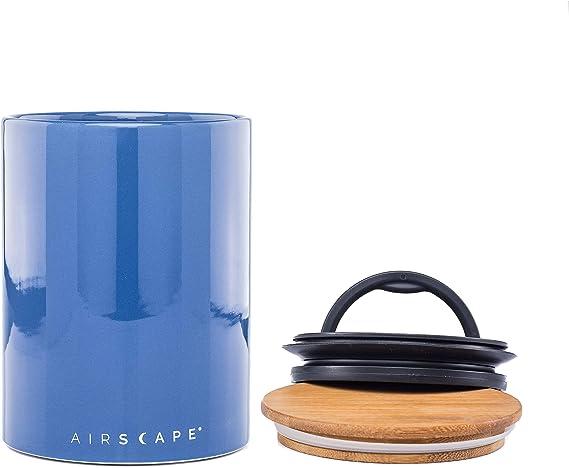 AirScape Caja de Comida Conservadora Cer/ámica Esmaltada Capacidad 500 g Volumen 1,9 L Cubierta Superior de Vidrio Gris Slate Grey Cubierta Interna Patentada de Vac/ío Herm/ético de aire