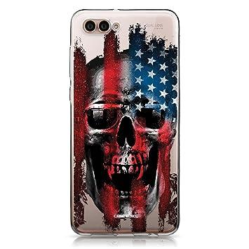CASEiLIKE® Funda Huawei Nova 2S, Carcasa Huawei Nova 2S, Arte del cráneo 2532, TPU Gel Silicone Protectora Cover