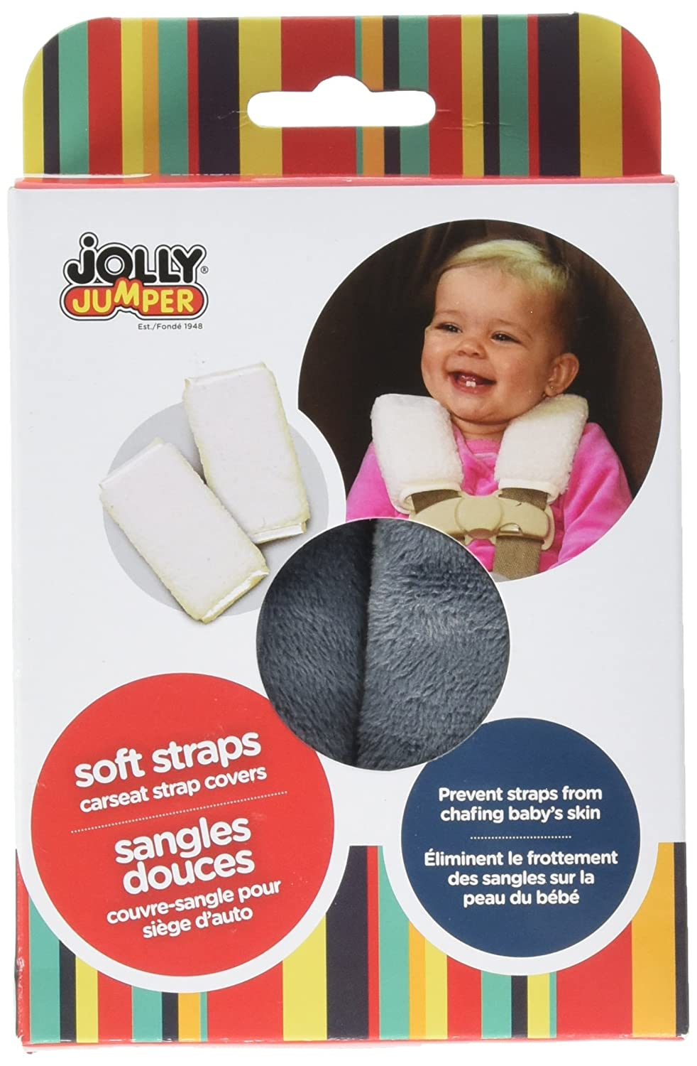 Amazon Jolly Jumper Soft Straps Carseat Strap Covers Sherpa 710 Assorted Color Baby
