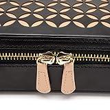 WOLF Chloé Zip Jewelry Case 4.5x9.25x2.25 Black
