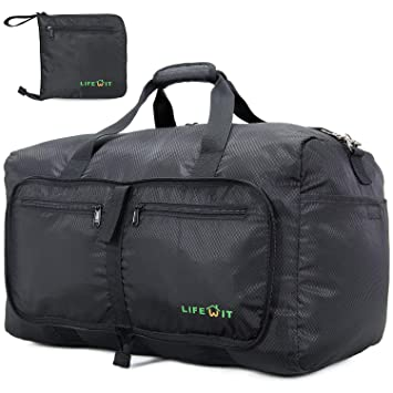 Lifewit 45L Foldable Waterproof Sport Holdall Gym Bag with Separate Shoes  Compartments Pouch Lightweight Overnight Duffel Tote for Travel 7a9829595fa05