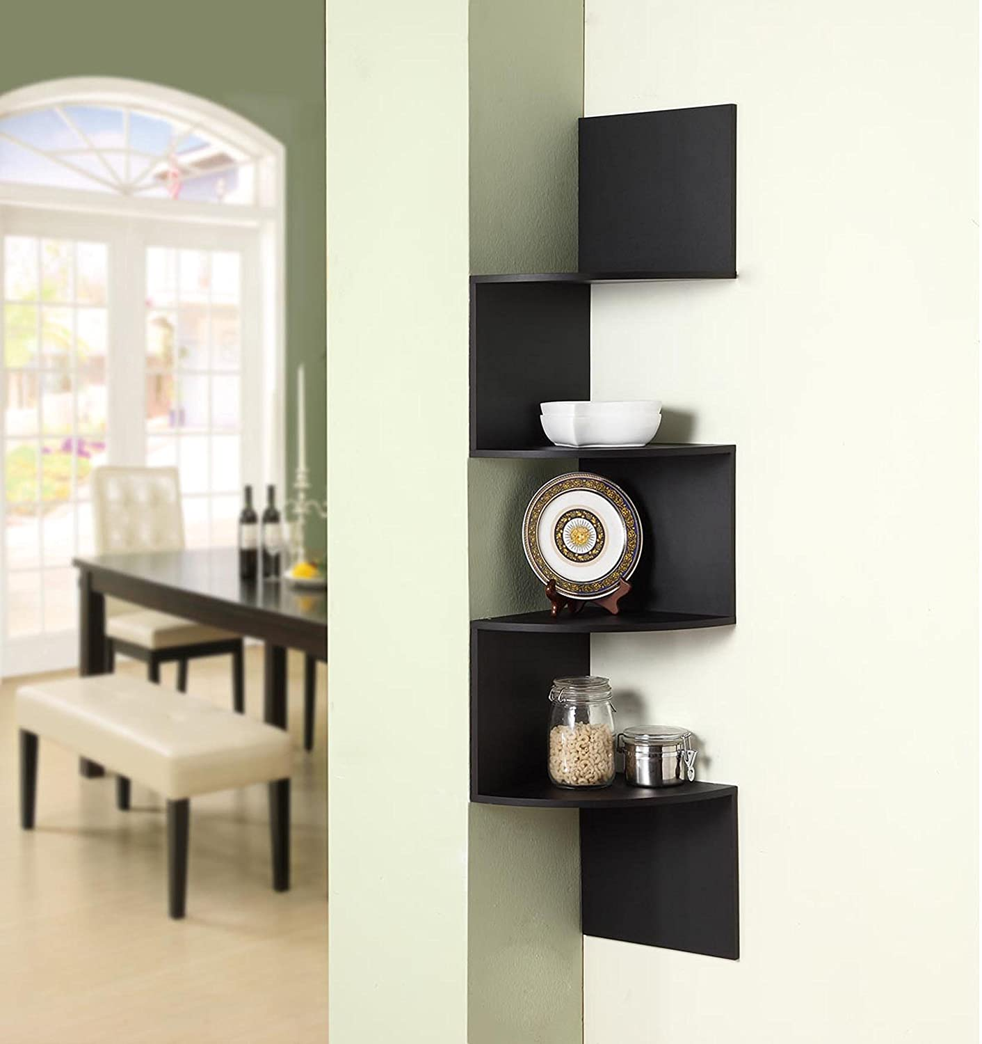 amazoncom d concepts hanging corner storage black kitchen  - amazoncom d concepts hanging corner storage black kitchen  dining