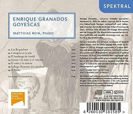 Matthias Rein, Enrique Granados, - - Granados: Goyescas - Amazon.com Music