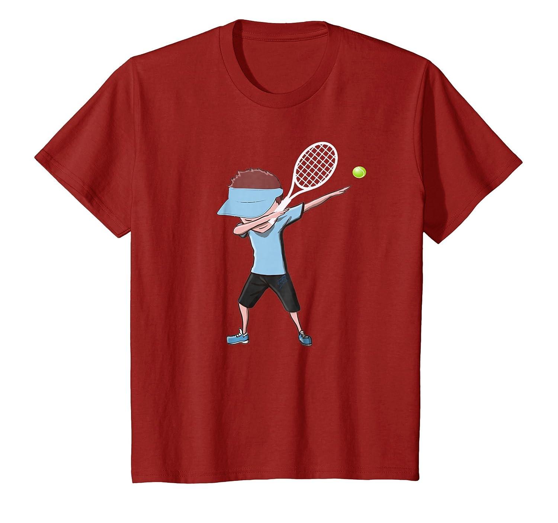 Tennis Dabbing Boy Funny Dab Dance T shirt for kids-Colonhue