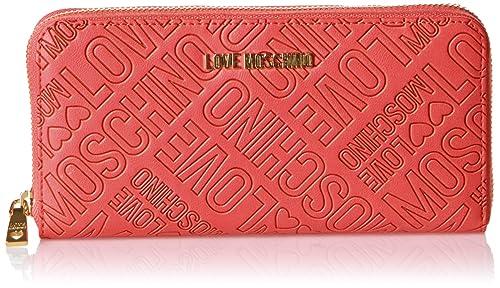 0f21b7a4d9 Love Moschino JC5504, Portafogli Donna, Rosso (Red), 3x10x20 cm (B x ...