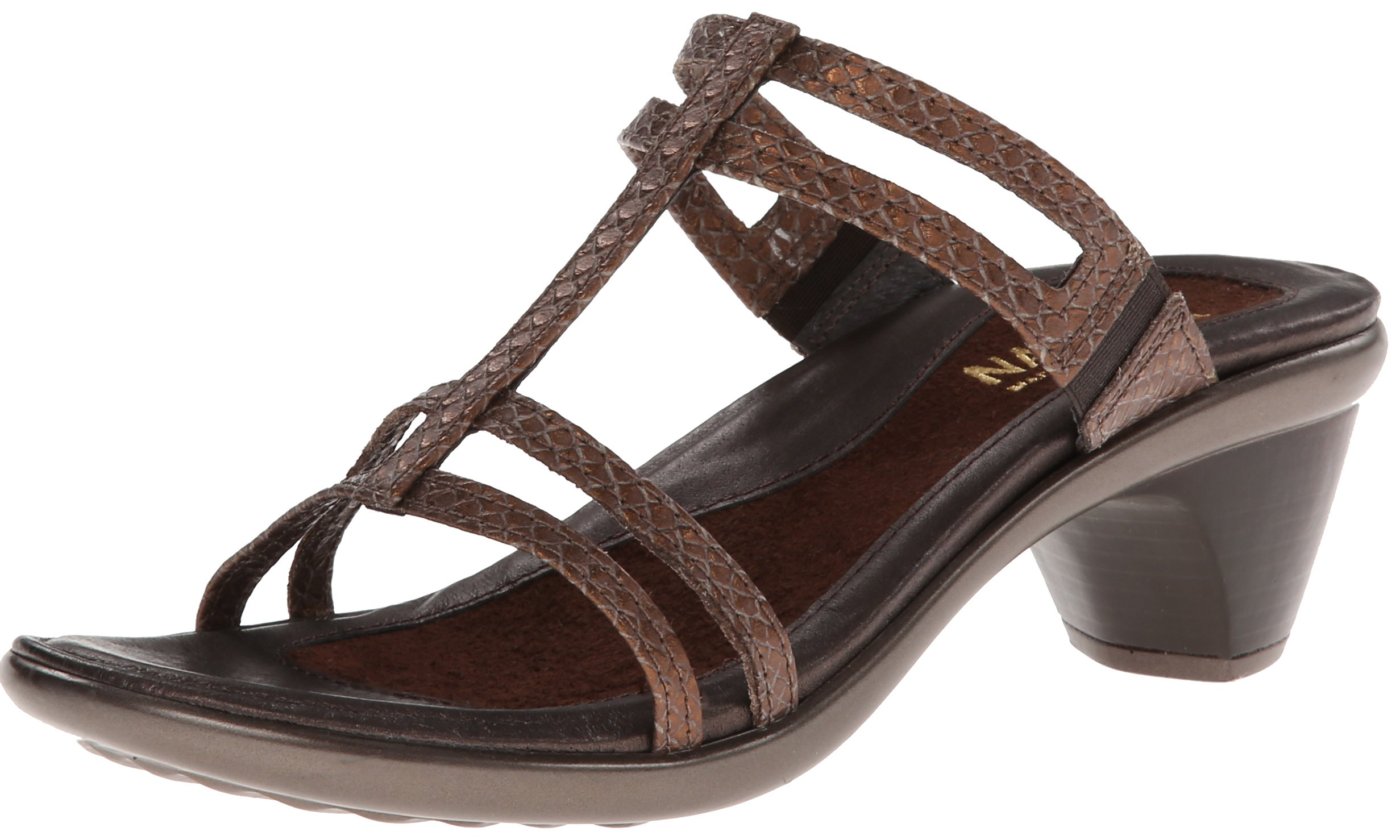 Naot Women's Loop Dress Sandal,Brown Lizard Leather,35 EU/4 M US