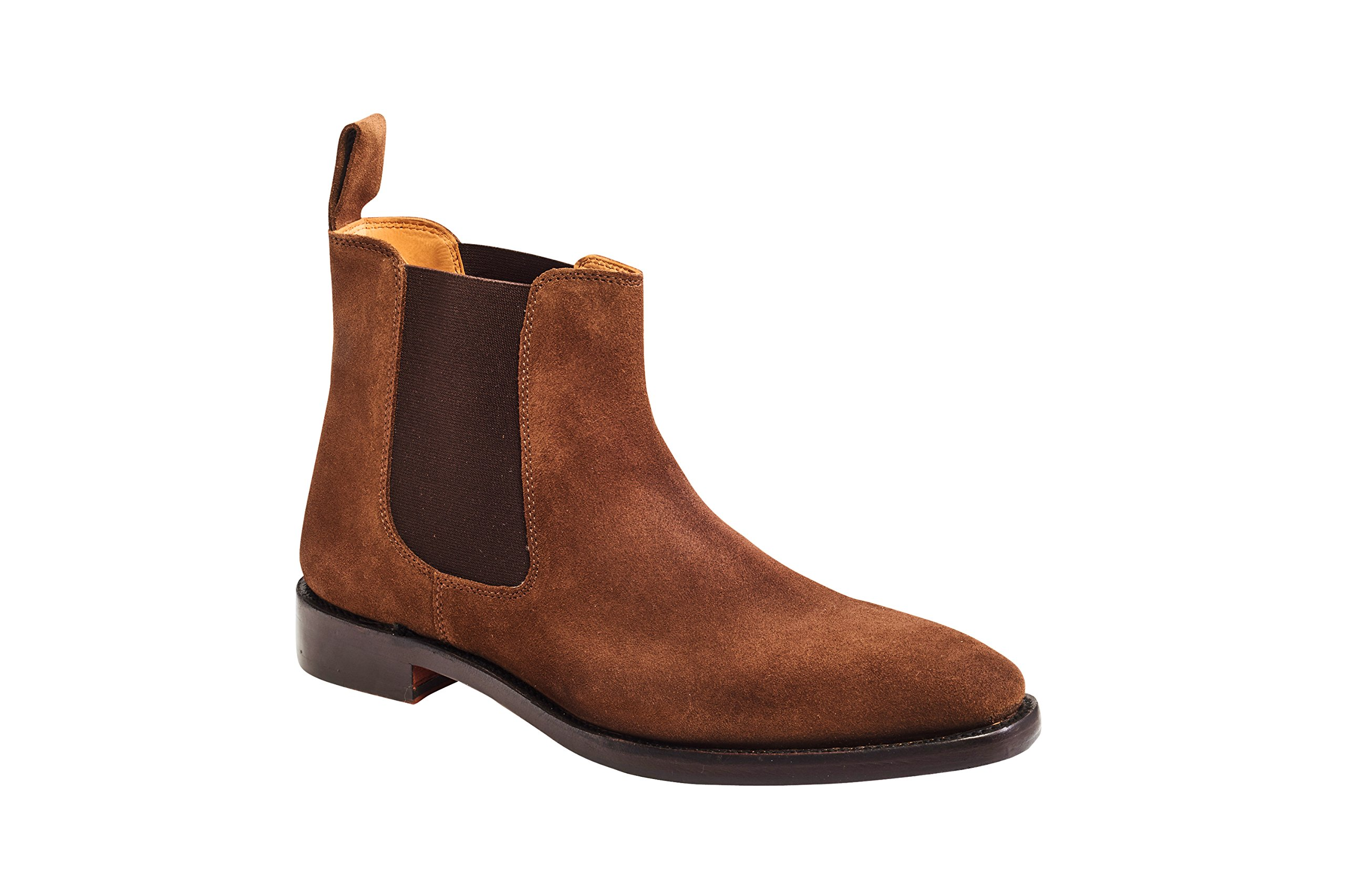 Carlos by Carlos Santana Menís Calavera Chelsea Boot In Goodyear Welted Construction (13 D, Honey Brown) by Carlos by Carlos Santana