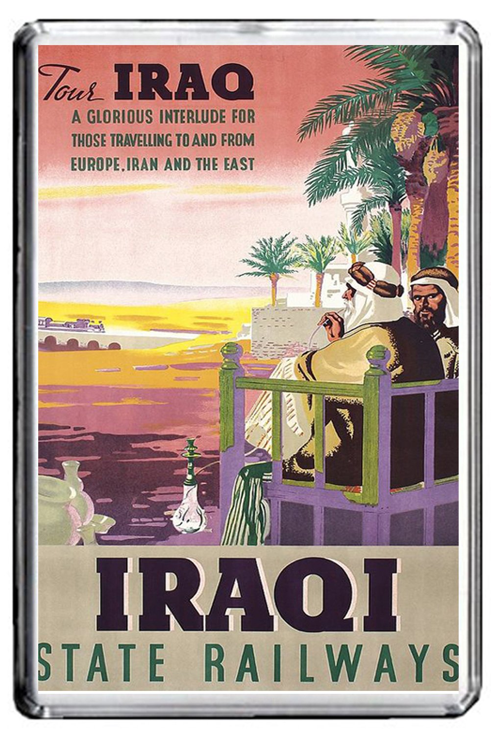 CFL B130 IRAQ FRIDGE MAGNET IRAN VINTAGE TRAVEL PHOTO MAGNETICA CALAMITA FRIGO