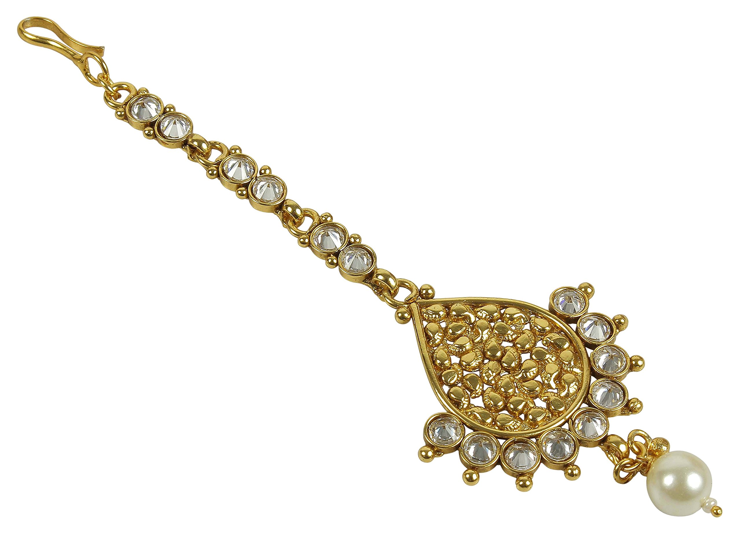 MUCH-MORE Indian Fabulous Style Party wear Maang Tikka Forehead Traditional Jewelry (2269)