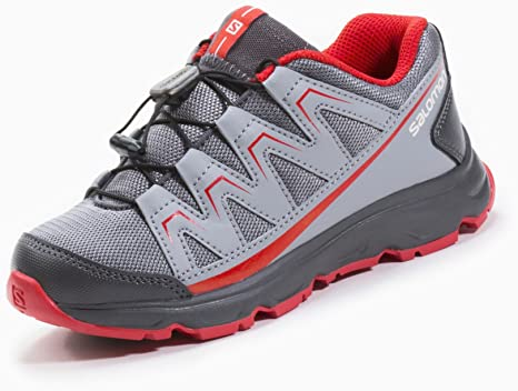 SALOMON MASCOTTA J Zapatillas para Correr Running Trail Gris Rojo ...