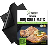 Tappetini da Barbecue - Set di 2 stuoie per griglia BBQ - Antiaderenti e riutilizzabili al 100% - Non contengono PFOA - Perfette per la cottura di carne, pesce e verdura - Facili da lavare, anche in lavastoviglie