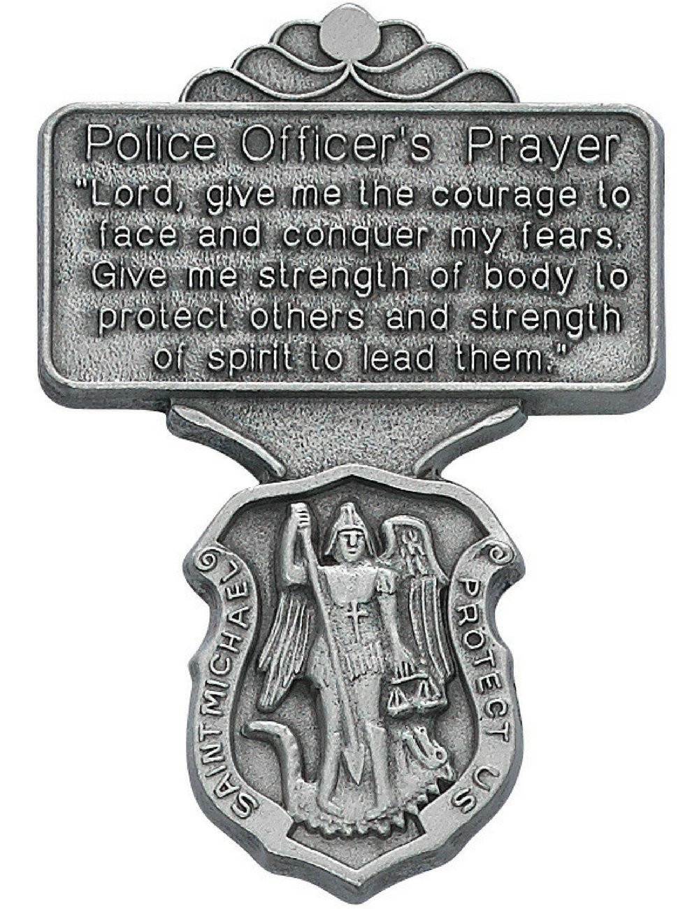 All Patron Saints Saint Michael Police Officer Prayer Auto Visor Clip vc:1001:p
