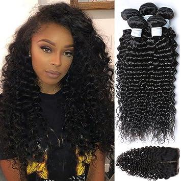 Amazon etino 4pcs lot brazilian virgin hair free part lace etino 4pcs lot brazilian virgin hair free part lace closure with 3 bundles 100 unprocessed pmusecretfo Choice Image
