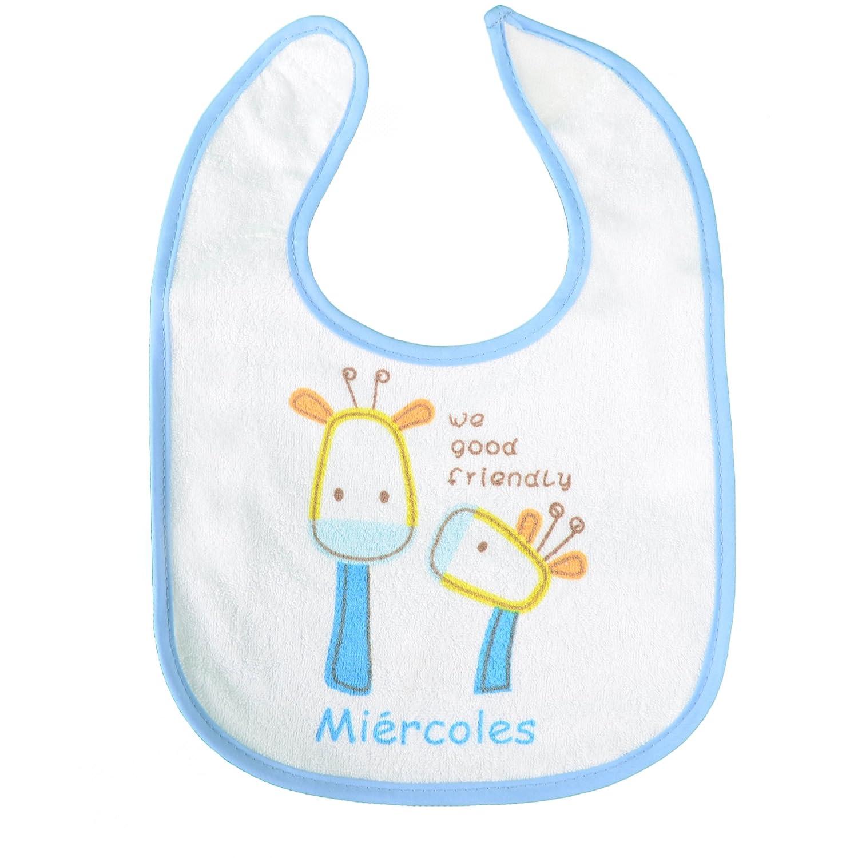PEKITAS Pack of 7 Baby Bibs Velcro Closure Size 28 cm x 21cm Waterproof Soft Cotton