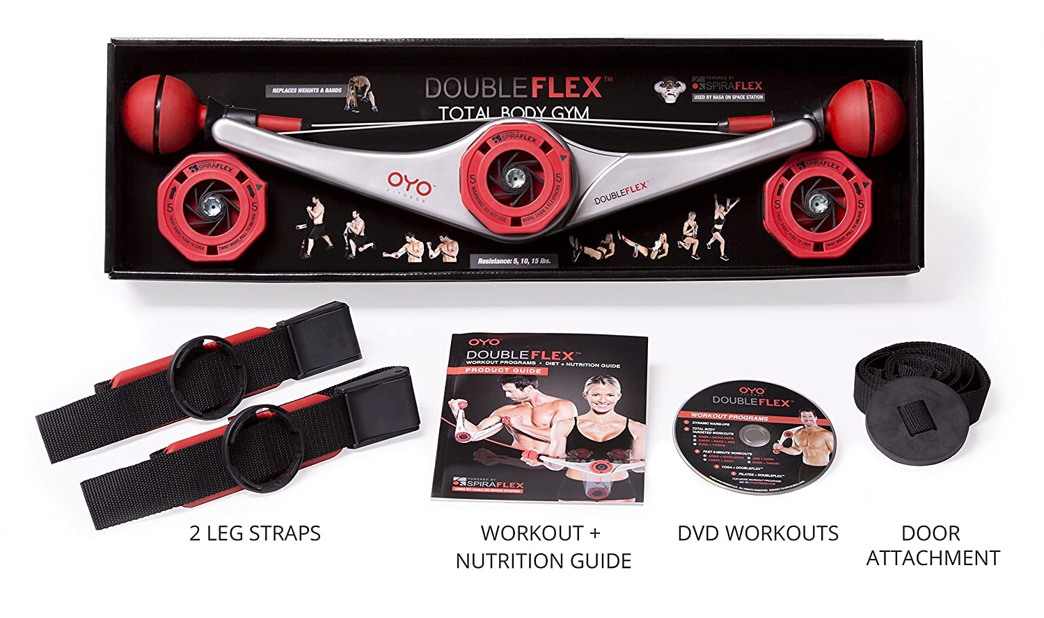 amazon com doubleflex portable home gym for total body workout