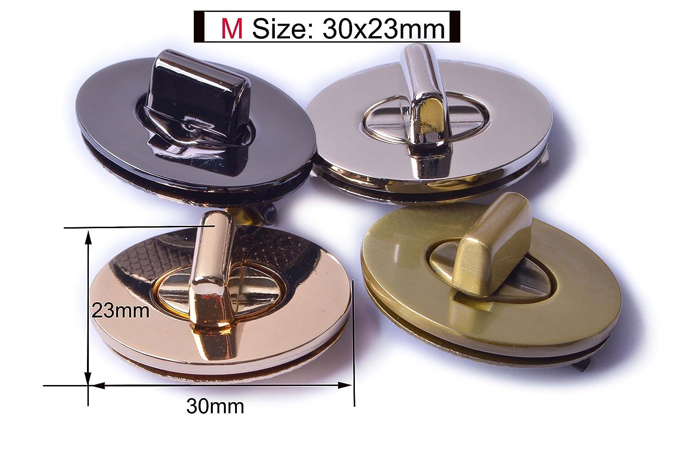 Silver, M Bobeey 2sets 30x23mm Small Oval Purses Locks Clutches Closures,Metal Oval Twist Locks,Small Purse Closure Turn Locks BBL4
