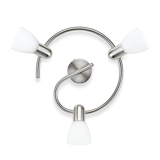 2 opinioni per Philips Burlap Lampada con 3 Luci Orientabili, senza Lampadina, Faretti a