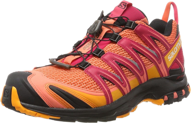 Salomon XA Pro 3D W, Zapatillas de Running para Mujer, Naranja (Living Coral/Black/Virtual Pink), 42 2/3 EU: Amazon.es: Zapatos y complementos