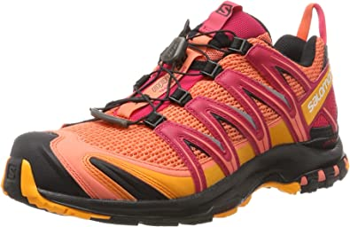 Salomon XA Pro 3D W, Zapatillas de Running para Mujer, Naranja (Living Coral/Black/Virtual Pink), 42 2/3 EU: Amazon.es: Zapatos y complementos