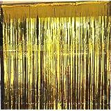 パーティー用 カーテン 写真 舞台 背景 1m×2m (金)