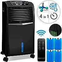 KESSER® 4in1 Mobile Klimaanlage | Fernbedienung | Klimagerät | Ventilator Klimaanlage | 8 L Wasser/Eis Tank | Timer | 3 Stufen | Ionisator Luftbefeuchter | Luftkühler | Farbe: Schwarz