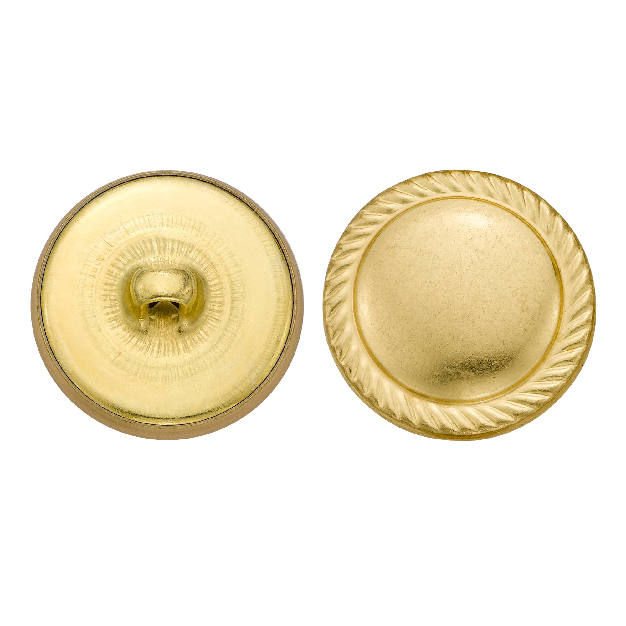 C&C Metal Products 5351 Rope Edge Dome Metal Button, Size 36 Ligne, Gold, 36-Pack