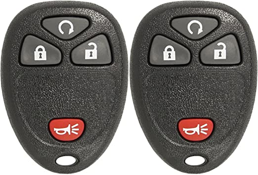 Discount Keyless Replacement Key Fob Car Remote Compatible with OUC60270 15913421 2 Pack