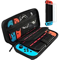 Hestia Goods case Compatible for Nintendo switch Hard Carry case and Tempered screen protector…