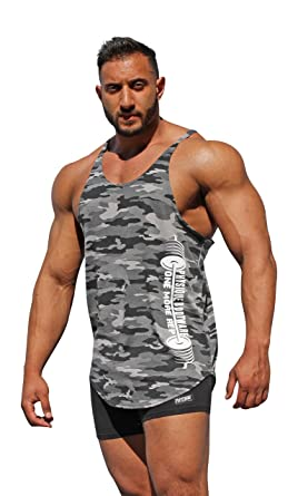 3138bc40a74aa Physique Bodyware One More Rep Camouflage Men s Y-Back Stringer Tank Top.  Made In