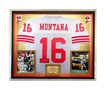 dd6ff777f3a Image Unavailable. Image not available for. Color  Premium Framed Joe  Montana Autographed Signed San Francisco 49ers Official Mitchel ...