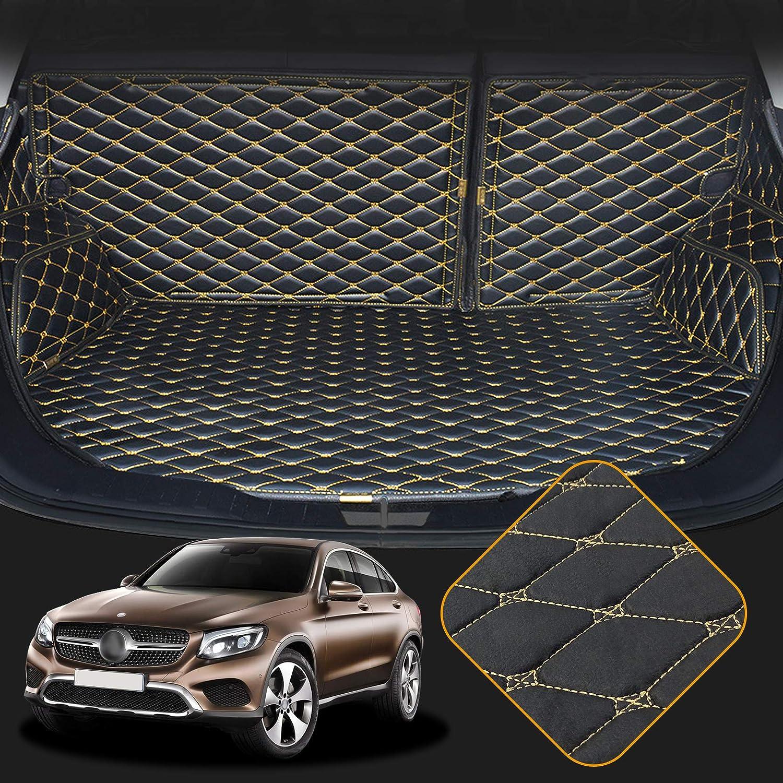 OREALTECH 3D Full Coverage Tappeti Tappeto Tappetini Tappetino Bagagliaio Auto Posteriore Baule Fodera Antiscivolo in Pelle XPE Trunk Mat per Mercedes-Benz Klasse GLC X253 C253 2016-2019